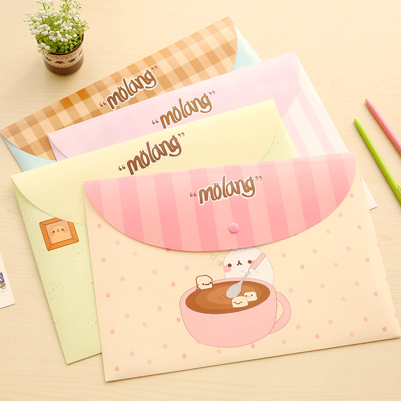 1Pcs New Floral PVC A4 File Folder Document Filling Bag Stationery Bag School Office Supplies Waterproof Durable Snap Folder