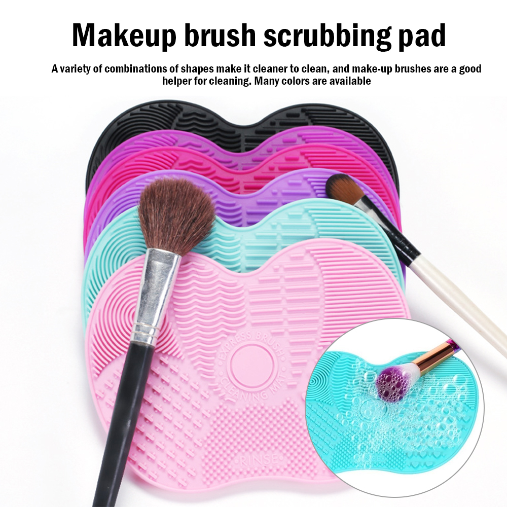 Silicone Makeup Brush Cleaner Foundation Makeup Brush Scrubber Board Pad Make Up Washing Brush Gel Cleaning Mat Hand Tool