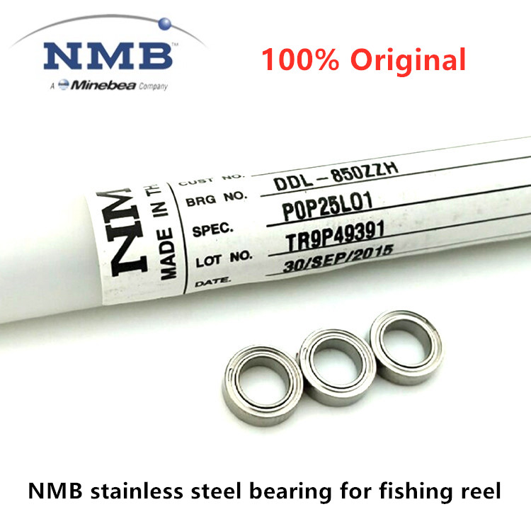 10pcs NMB stainless steel bearing for fishing reel 4x7x2.5 3x10x4 5x8x2.5 5x11x4 mm SMR74ZZ S623ZZ SMR85ZZ SMR115ZZ ABEC-5