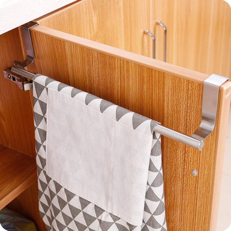 Deux Dimensions Sur La Porte De La Salle De Bain Porte-serviettes Barre Inox Monte Toilettes Armoires De Cuisine