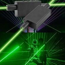 Ручной зеленый лазерный мини проектор с двумя головками перезаряжаемый