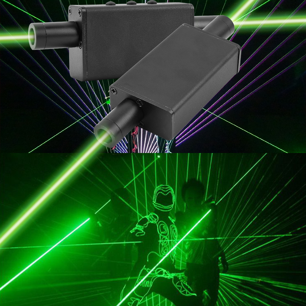 Mini Handheld Green Laser Sword Light Double-headed Laser Projector Dance Effect Stage Light Rechargeable For Bar Dj Show