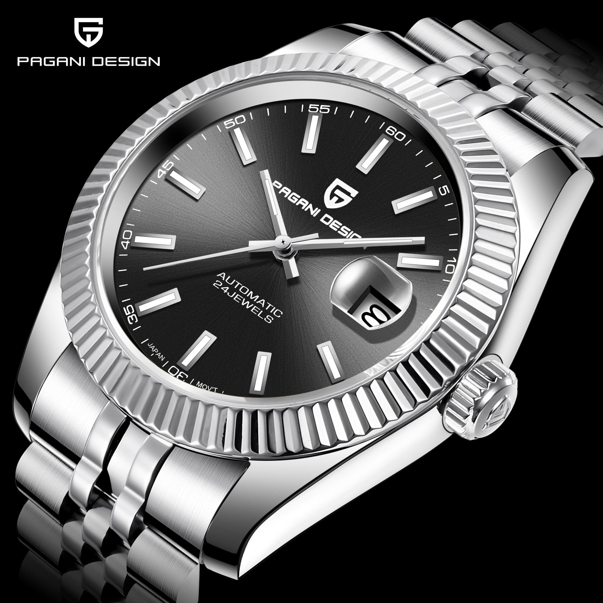 Pagani design luxo masculino relógio de aço