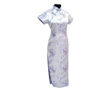 Image 4 - Short Sleeve Qipao Long Dresses Sexy dress Black Dragon&phoenix Chinese Traditional Gown Women Satin Cheongsam Qipao Big Size