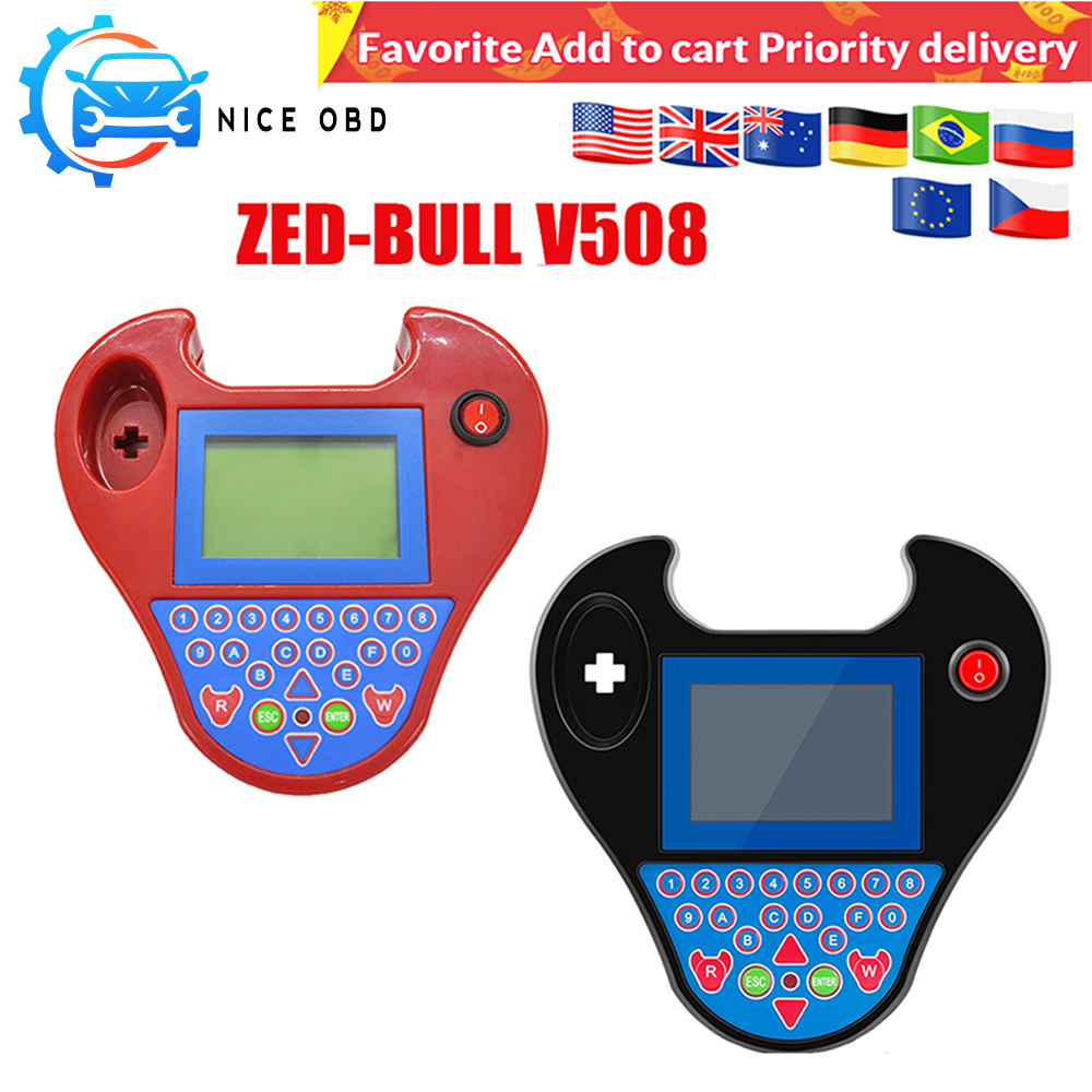 Mini Zed bull V508 Auto Key Transponder Programmer Pocket Type No Tokens No Login Smart Zed bull key copy Chip auto tool