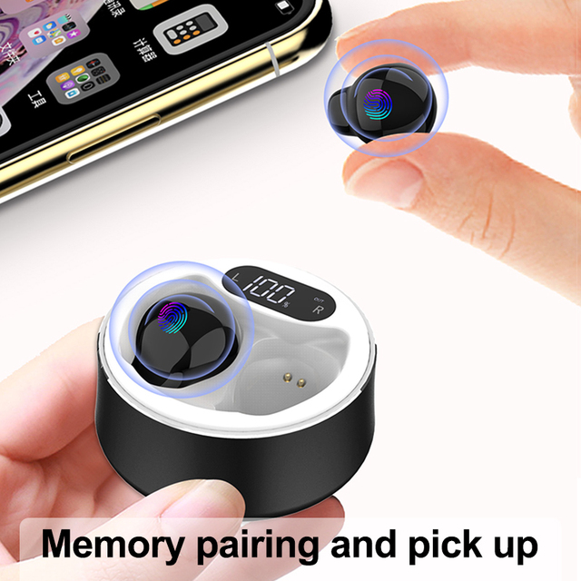 x26 Ultra Small Mini Hidden Wireless Bluetooth 5.0 Earphone Touch Control Portable Charging Case Earbuds TWS Sport Headset 4