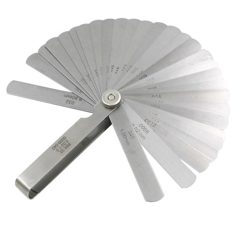 0.02 to 1mm Thickness 32 Blade Stainless Steel Gap Metric Filler Feeler Gauge