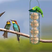 Кормушка для птиц на открытом воздухе, переносная сетка для кормления диких птиц, железный жироулавливающий шариковый держатель, товары для парка, сада, дерева, контейнер 4