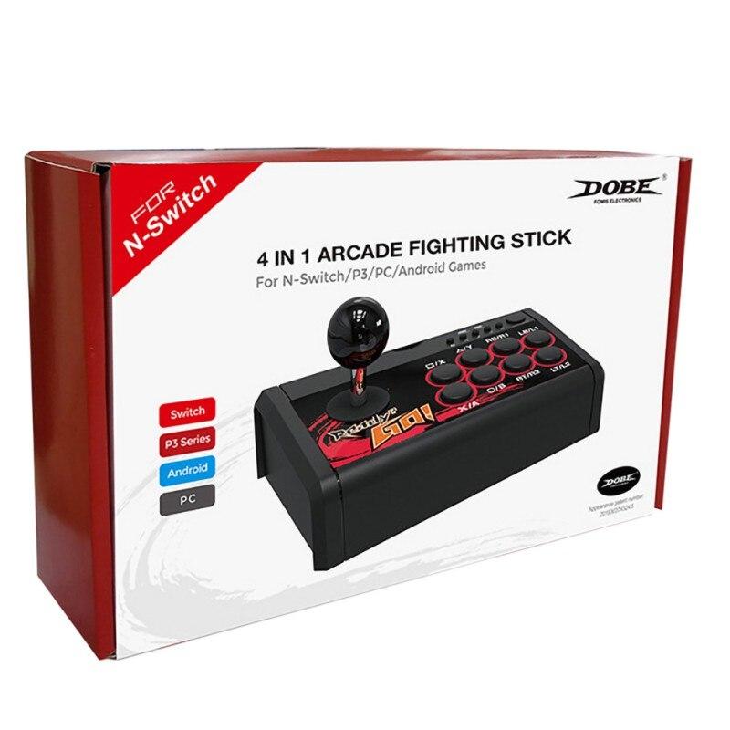 Manette à bascule USB contrôleur de jeu manette d'arcade combat Ara pour Swtich/PS3/PC/Android 4 en 1 manette de combat d'arcade - 4