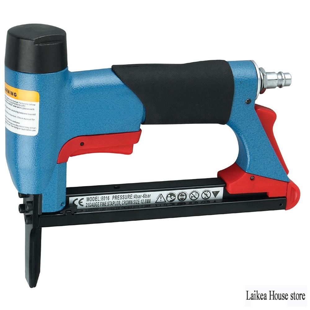 Nail Gun 8016 Air Stapler Nailer Fine Stapler Tool for Furniture 1/2 Inch Pneumatic 4-16Mm Woodworking Pneumatic Air Power Tools