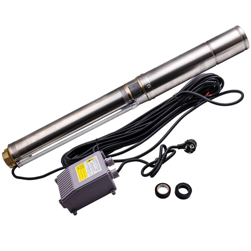 Погружной водяной насос для бурения, 4 дюйма, 370 Вт, с кабелем питания 20 м, 370 Вт