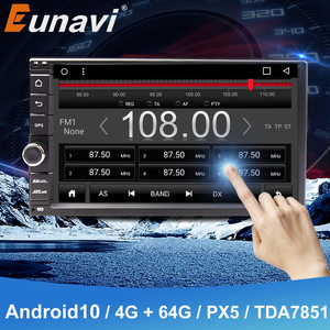 Image 1 - Eunaviユニバーサル2 din 7 アンドロイド10車のラジオステレオマルチメディアプレーヤー2din gpsナビゲーション4グラム無線lan usb TDA7851タッチスクリーンbt