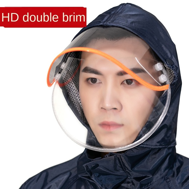 Adults Waterproof Men Raincoat Rain Pants Suit Motorcycle Riding Raincoat Jacket Double Black Rain Coat Clothes Impermeable Gift 1