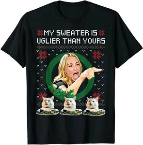 Новинка 2020, забавная женская футболка с криком на кошку, уродливая Рождественская елка, мем, дизайнерская футболка, футболка, толстовки
