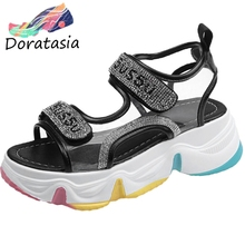 DORATASIA Leisure Women Open Toe Velcro Platform Shoes 2020 Brand Classic Mixed Color Sandals Women Summer Punk Sandals