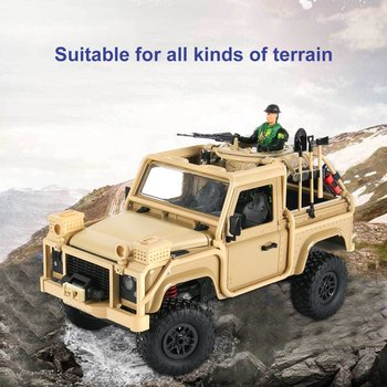 MN-961:12 4WD RC Crawler Car 2.4G Remote Control Big Foot Off-road Crawler Military Vehicle Model RTR Toy For Kids Gift