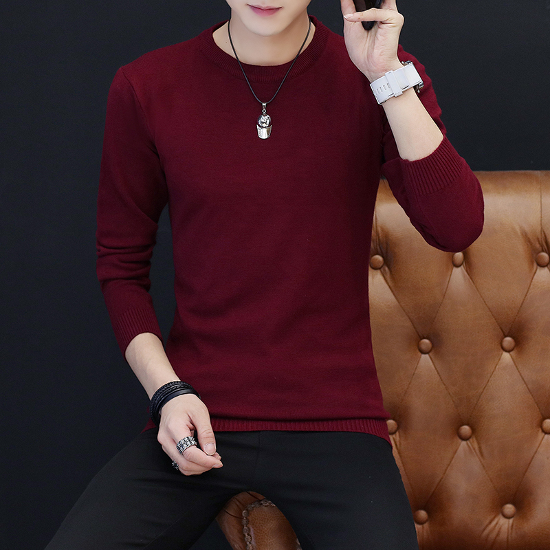 2019 Sweater Men Casual V-Neck Pullover Men Autumn Slim Fit Long Sleeve Shirt Mens Sweaters Knitted Cashmere Wool Pull Homme