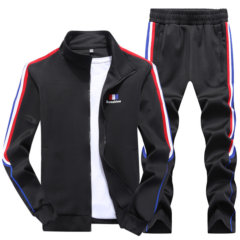 2019 Spring And Autumn Sports Set MEN'S Casual Suit Men's Slim Fit Korean-style Coat Sports Clothing Student Uniform Men's