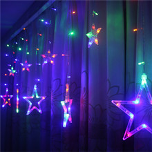 LED Curtain String Light 3M 96LEDs Star Fariy Lights 8 modes Xmas light Holiday For Wedding/Party/Curtain/Garden Decor