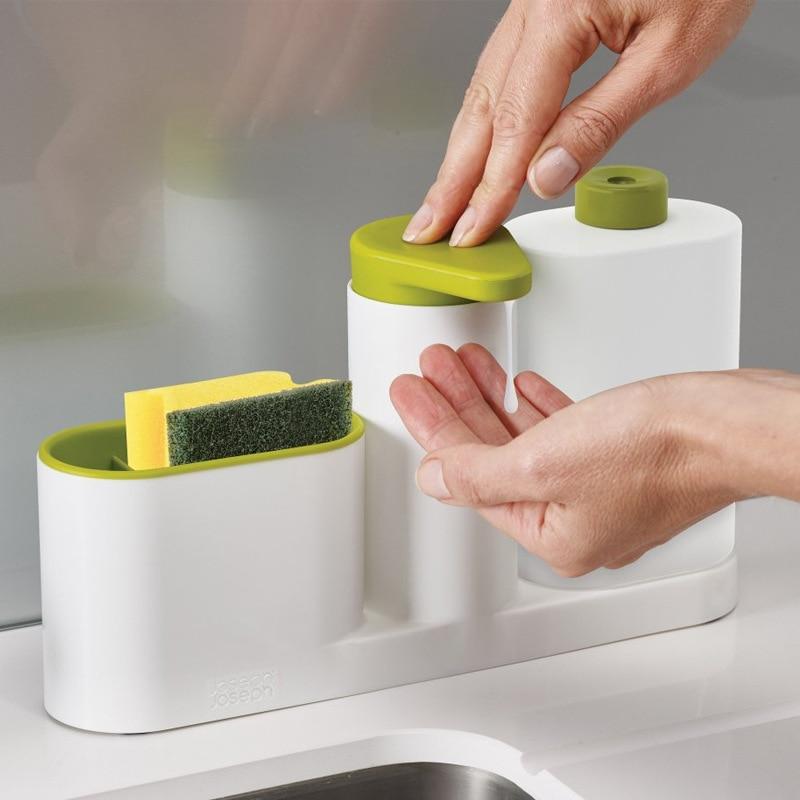 Больше функций кухонный Туалет принять перчаточный ящик резервуар для воды мыло моющее средство мыть руки жидкий контейнер из трех частей