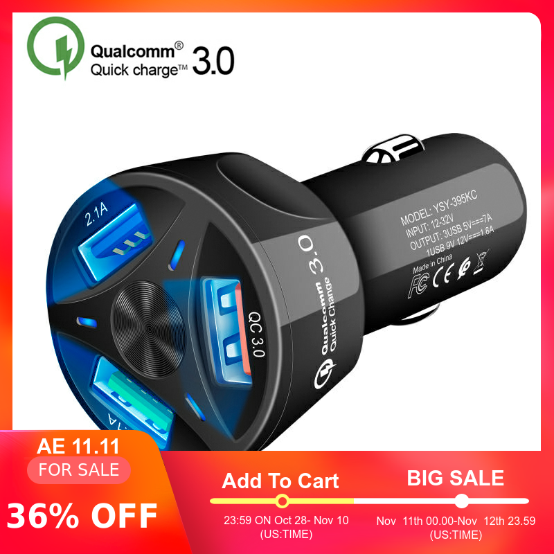 Universal Dual USB Car Charger 5V 3.1A Mini Charger Fast Charging With LED for Mobile Phone Smart phone Xiaomi Samsung iPhone X-in Car Chargers from Cellphones & Telecommunications