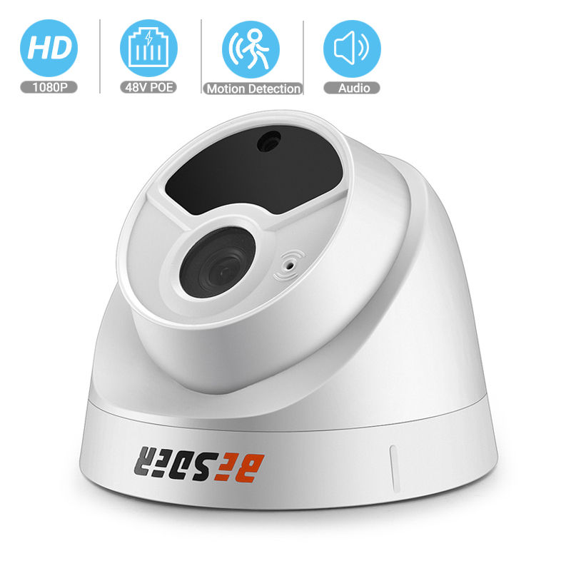 BESDER Full HD 1080P Security Camera Indoor Dome IP Camera Audio With Internal Microphone 48V PoE P2P ONVIF Email Motion Detect
