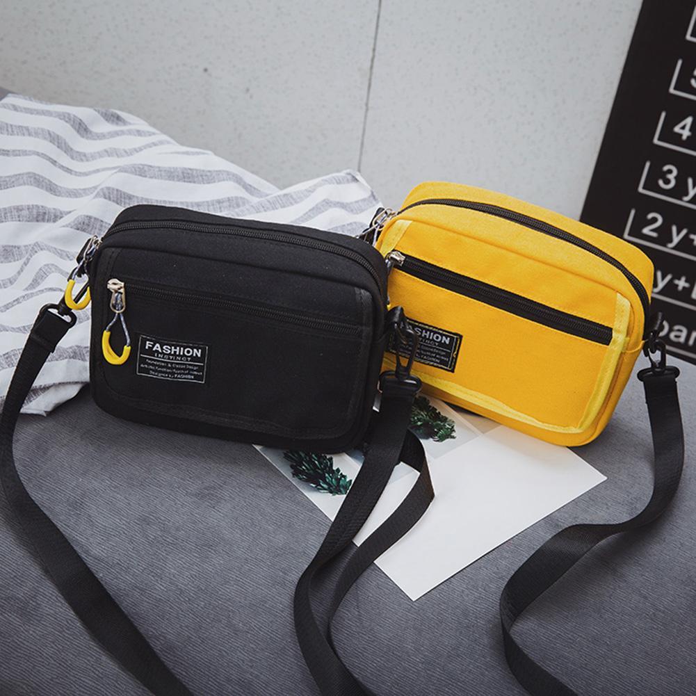 2020 Sports Lettering Canvas Bag Korean Harajuku Wild Shoulder Bag Messenger Bag Fashionable Simple