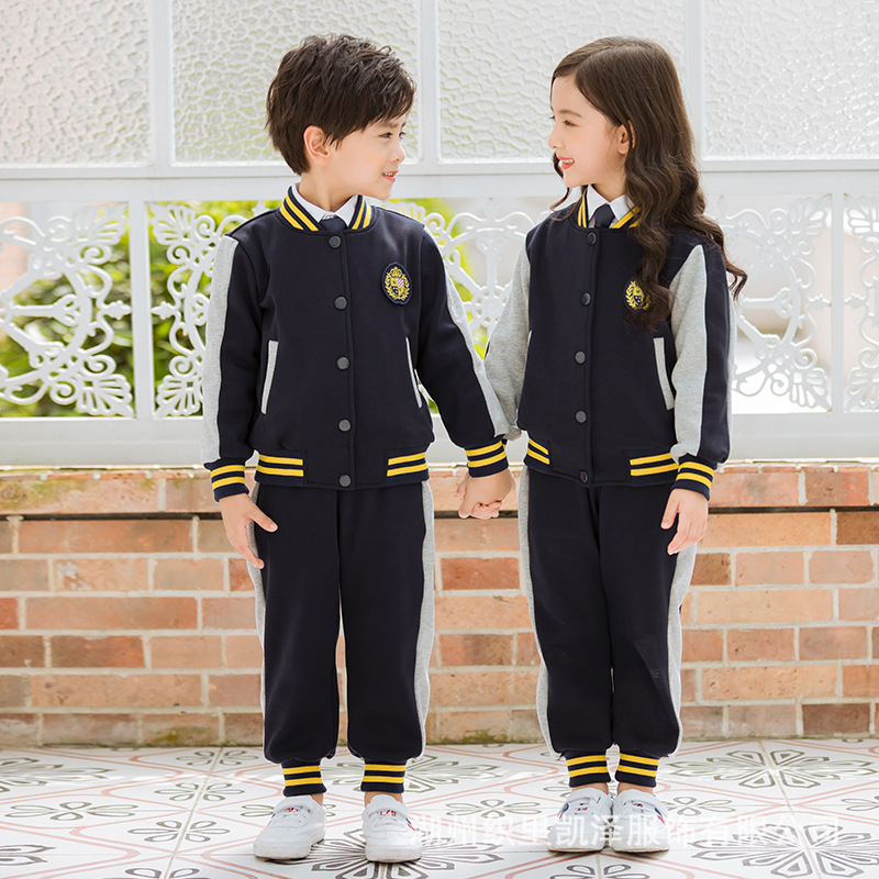 Primary School STUDENT'S School Uniform Set Spring And Autumn 2018 New Style Sports Clothing Children Spring Kindergarten Suit B