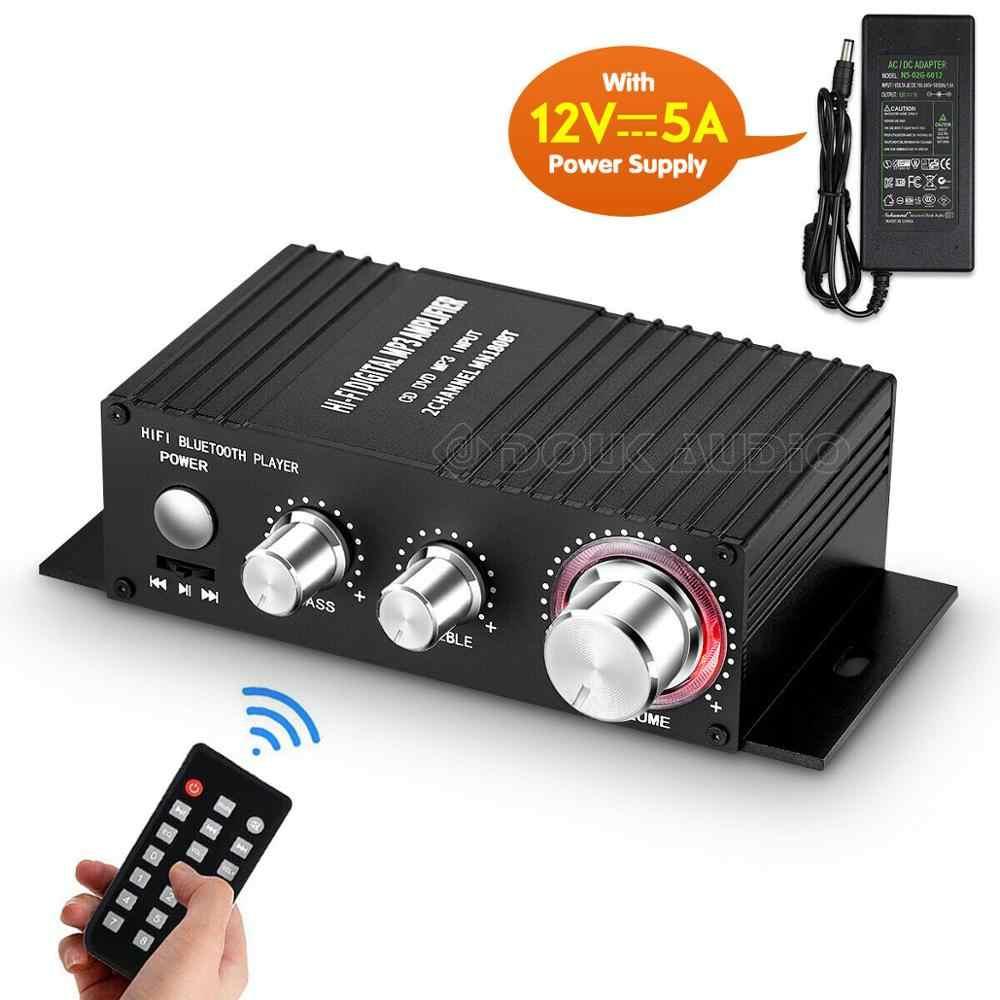 ハイファイ 100 ワット 2.0 チャンネル Bluetooth の電源アンプステレオオーディオ受信機デジタルアンプ用マリン USB 音楽プレーヤー ir リモート