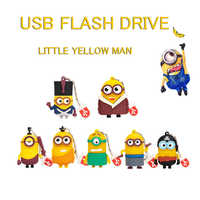 XIWANG cartoon little yellow people usn flash disk 4GB 8GB pen drive 16GB 32GB 64GB portable USB 2.0 pendrive flash memory stick