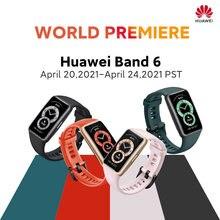 [World premiere] versão global huawei banda 6 smartband oxigênio no sangue 1.47 amamamoled monitor de freqüência cardíaca monitoramento do sono