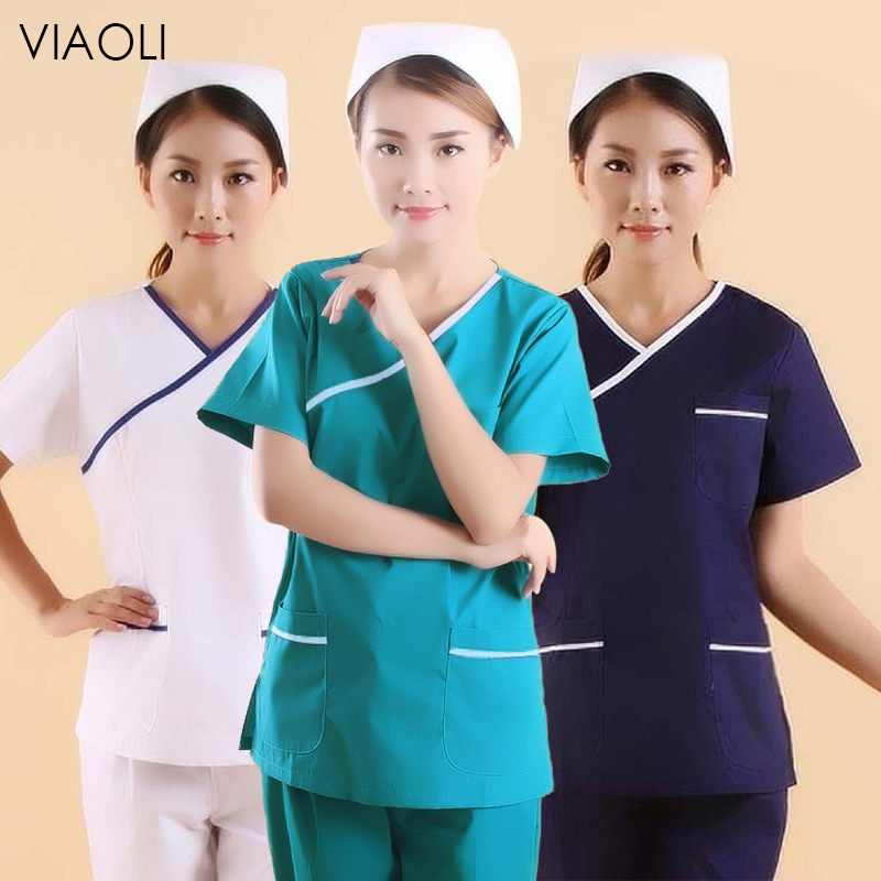 Pet Hospital Nurse Uniform Set Surgery Uniform Dental Clinic Beauty Salon Pharmacy Workwear Spa Nursing Uniform Scrubs Lab Coat