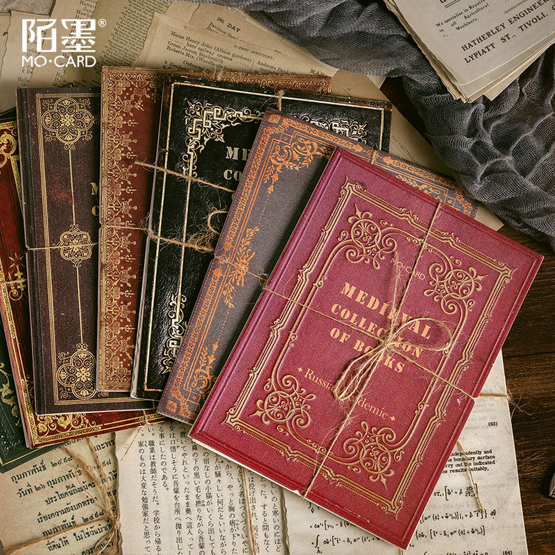 Retro Medieval Collection Of Books  StickerNotes Memo Pad Manuscript Note Diary Stationary Flakes Scrapbook Decorative   Sticker