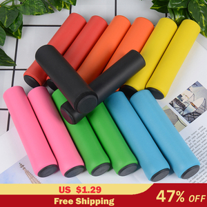 1Pair Silicone Cycling Bicycle Grips Outdoor MTB Mountain Bike Handlebar Grips Cover Anti-slip Strong Support Grips Bike Part(China)