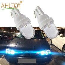 4 pièces T10 W5W 1Led 1Smd blanc/rouge/jaune/bleu/RGB voiture Auto lecture ampoules cale lumière côté tableau de bord plaque d'immatriculation lampe ampoule DC 12V