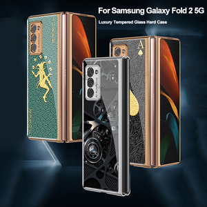 Image 5 - Custodia GKK per Samsung Galaxy Z Fold 2 custodia 5G custodia protettiva antiurto in vetro placcato di lusso per Samsung Galaxy Z Fold 2