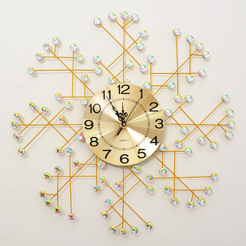 Iron fashion simple mute wall clock European and American living room bedroom explosion models creative wall clocks home decor