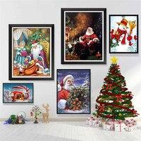 Frohes Neues Jahr Urlaub Dekor Kinder Weihnachten Geschenke Leinwand Drucke Claus Und Schnee Poster Santa Figur Malerei Wand Kunst