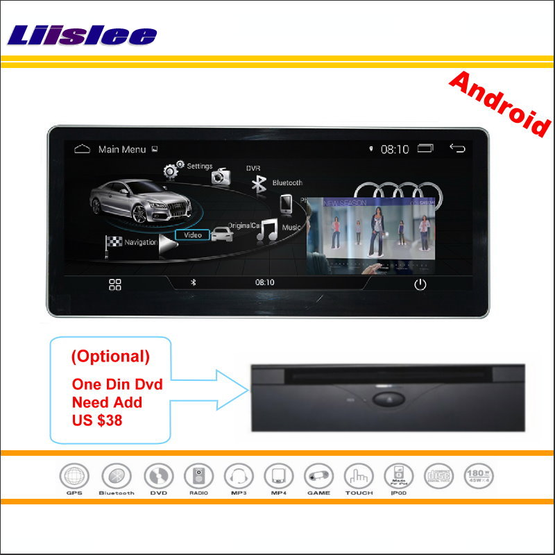 Liislee <font><b>10.25</b></font> Inch Digital Screen Android Multimedia For <font><b>Audi</b></font> A4L 2017 Stereo Radio CD DVD Player GPS Navi Map Navigation System image