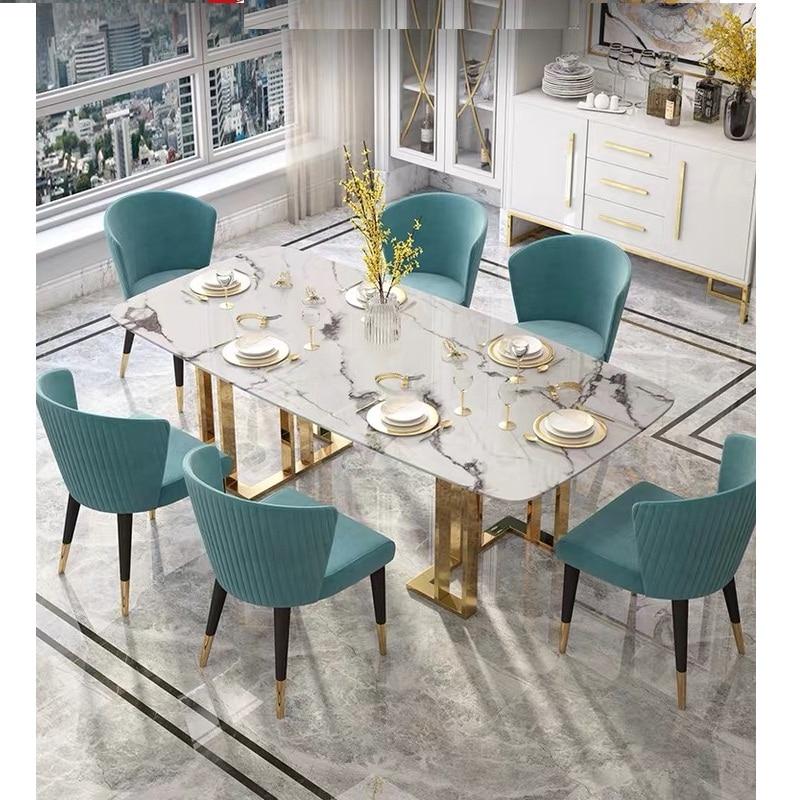 U-BEST Modern Dining Table Dining Room Furniture Designs ,italian Luxury Hotel Restaurant Marble Dining Table