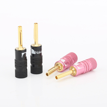 24 k Vàng mạ Hot New Nakamichi Speaker cable Banana Cắm Kết Nối
