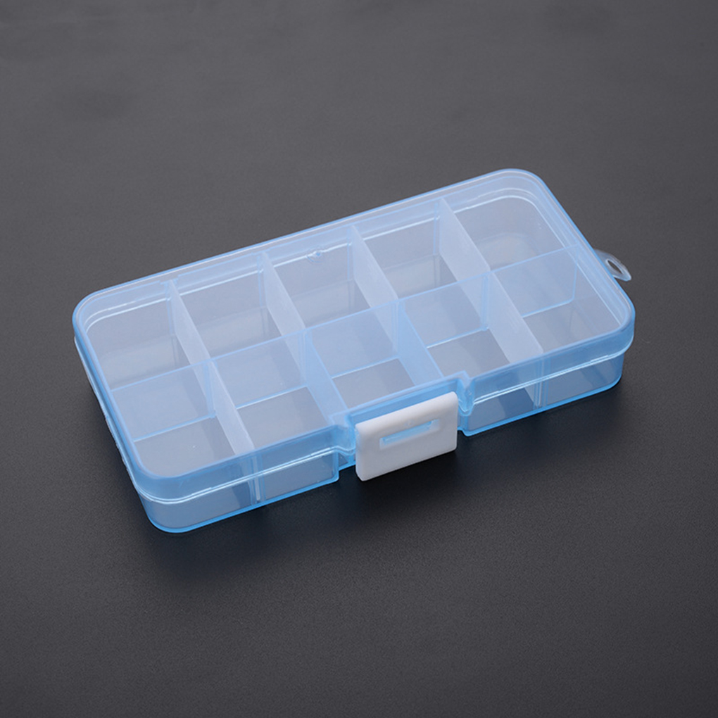 10 Grids Transparent Storage Box For Small Component Jewelry  Tools Empty Case Plastic Jewelry Container Parts Organizer