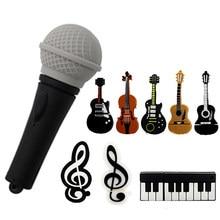 Heißer Stick 64GB Schöne Musical Instrument Gitarre Violine Hinweis USB-Stick 4GB 8 GB 16GB 32GB Stick 128 GB USB Stick heißer