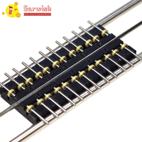 Surwish 6pcs 50cm 1:87 Model Train Ho Scale Diy Accessories Treadmill Track With/Without Connecting Line For Ho Scale Model