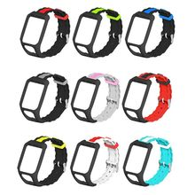 Two-tone Breathable Soft Silicone Watchband Wrist Strap for TomTom Adventurer/Runner 2 3/Spark 3 Sport Watch Bracelet Accessorie