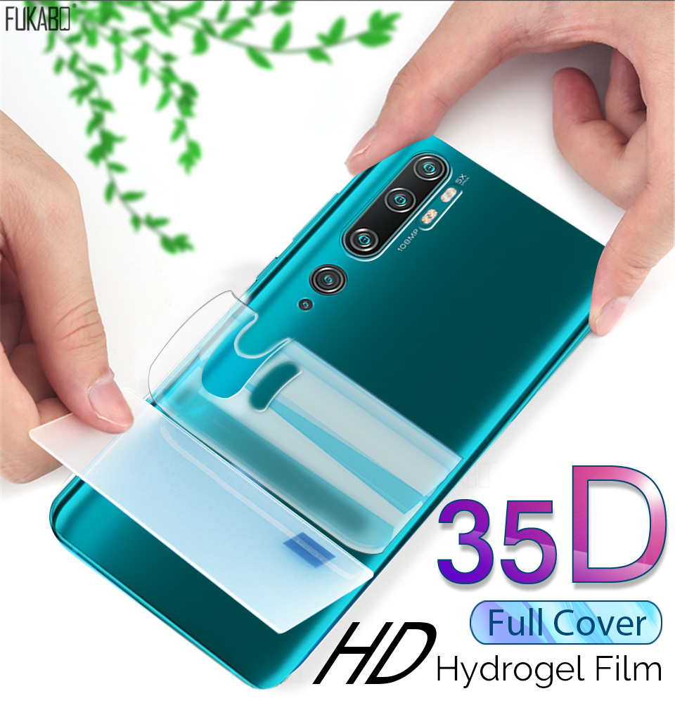 35D Front & Back Hydrogel Film For Xiaomi Redmi Note 8 7 Pro Mi Note 10 Pro Screen Protector For Mi 10 9T Pro A3 Lite Not Glass