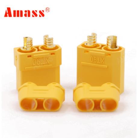 100 pcs/lot Amass XT90 XT90H connecteur de batterie ensemble 4.5mm mâle femelle plaqué or fiche banane (50 paire)