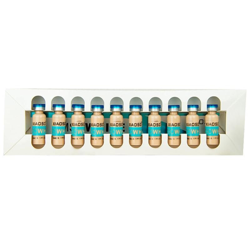 10 flaschen 5Ml Bb Glow Bb Creme Weiß Aufhellung Serum Natürliche Nude Make Up Foundation Mikronadel Behandlung System Gesichts bb