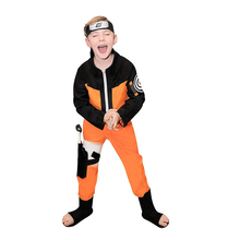 Outfit Top-Pants Coat Costumes Naruto Kids Boy-Show-Suits Japanese for Cartoon