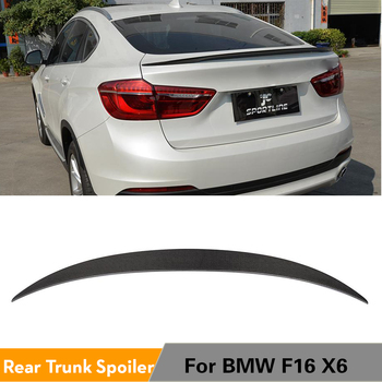 For BMW X6 F16 xDrive Series SUV Base and M Sport 2015 - 2017 Carbon Fiber Rear Spoiler Trunk Boot Wings Car Styling